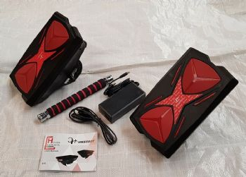 Mars Walker Red Hover Shoes 250w Drift Hoverboard Self Balancing Hovershoes+Bar